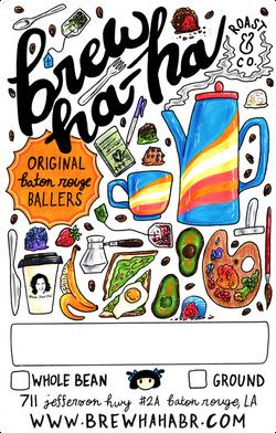 Brew Ha-Ha! Coffee Bag Sticker Design