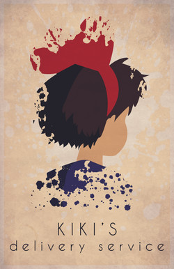 Kiki's Delivery Service Minimalist Poster Design