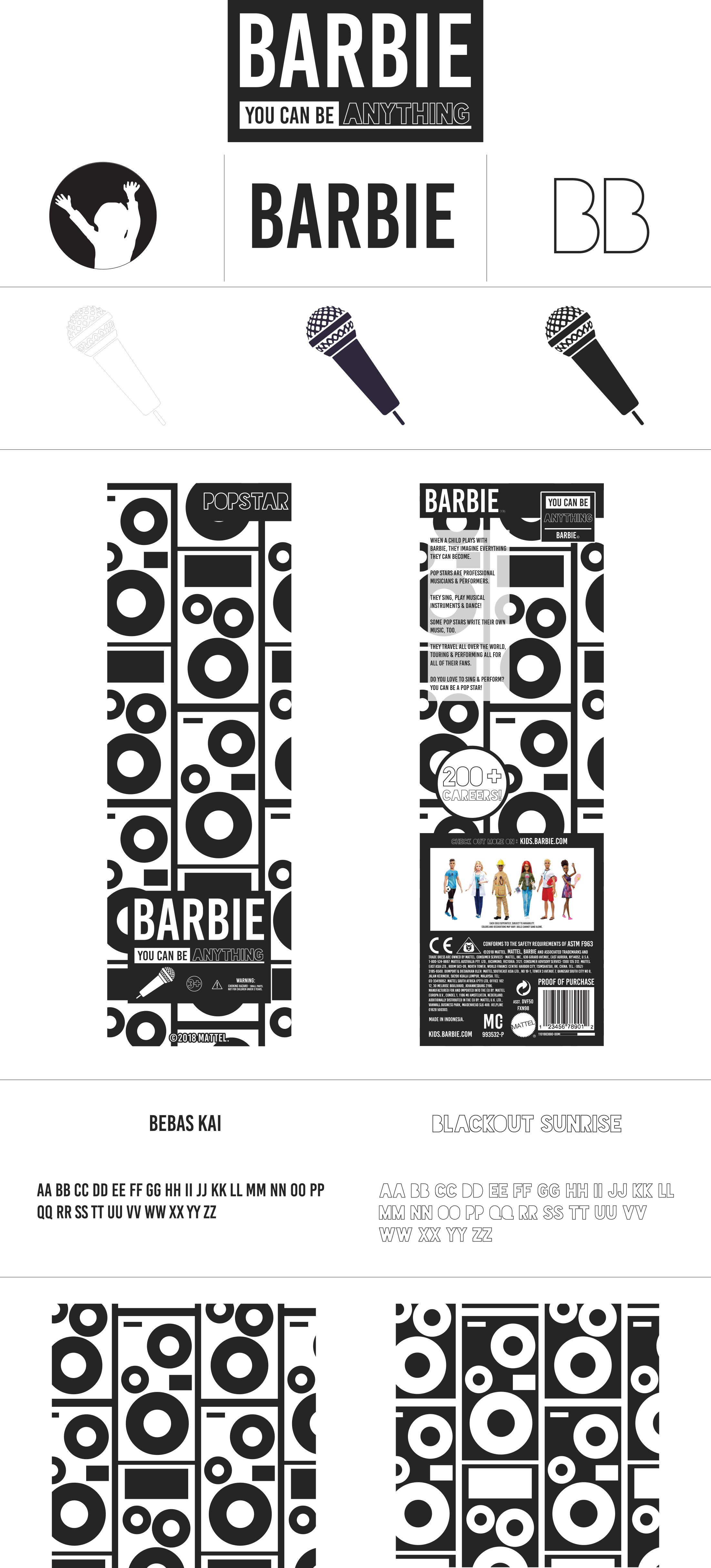 Barbie REBRAND Branding Board