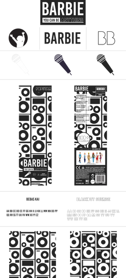Barbie REBRAND Branding Board