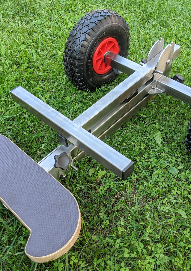 Ultra-portable outboard motor trolley