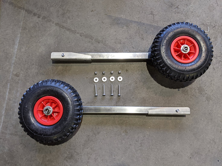 Stainless steel foldable LW launching wheel set with screws, Type I