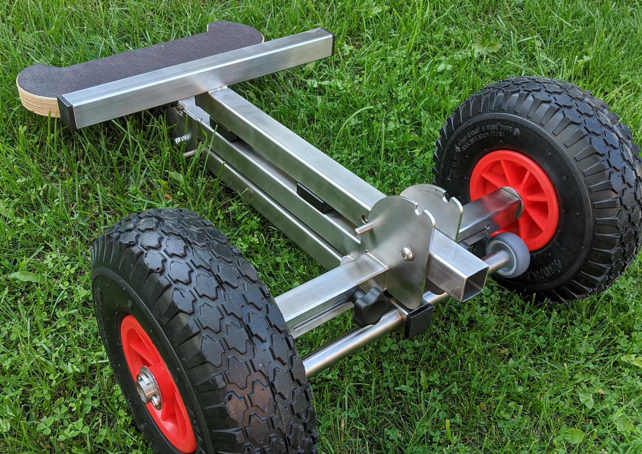 Foldable outboard motor trolley