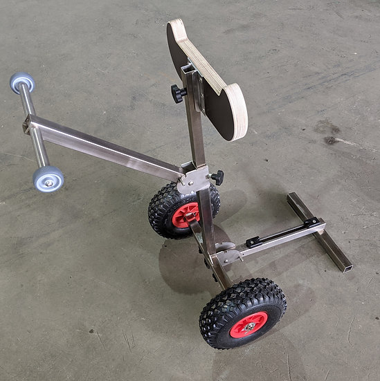 Outboard motor trolley full view, unfolded