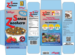 Sugar Free Cereal Package Design