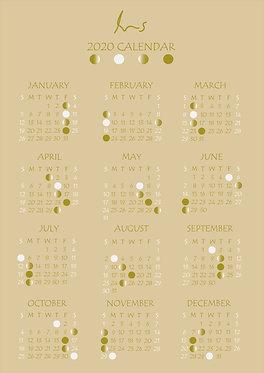 2020 Lunar Calendar (Golden)