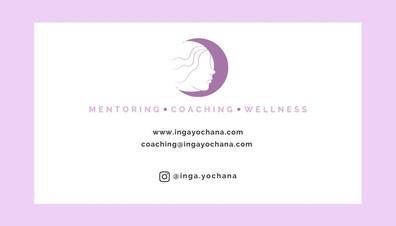 Inga yochana business card - back