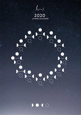 2020 Lunar Calendar Pack (Stardust)