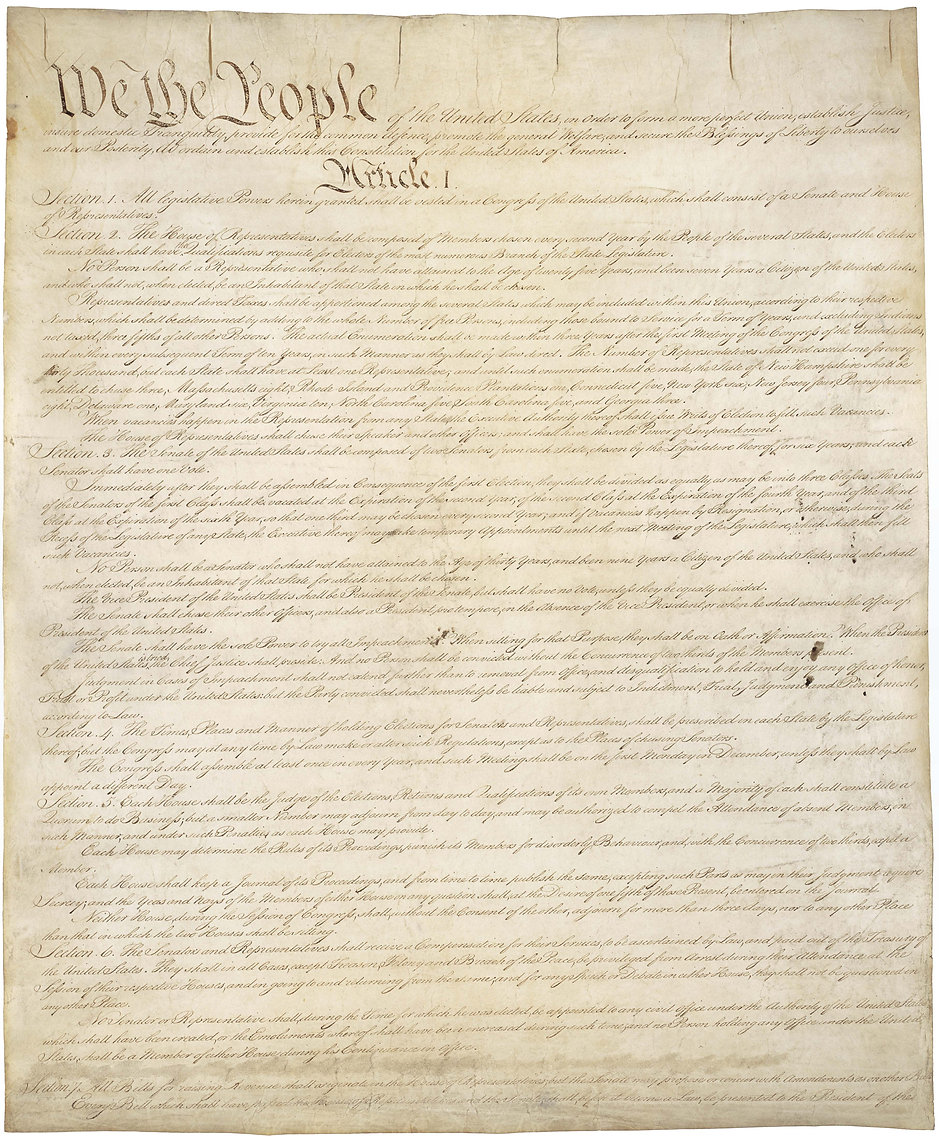 US Constitution Page 1