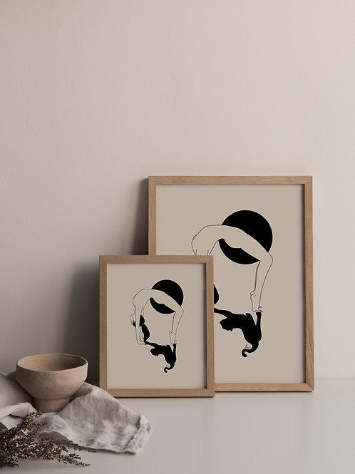 'Strech like a cat' Print