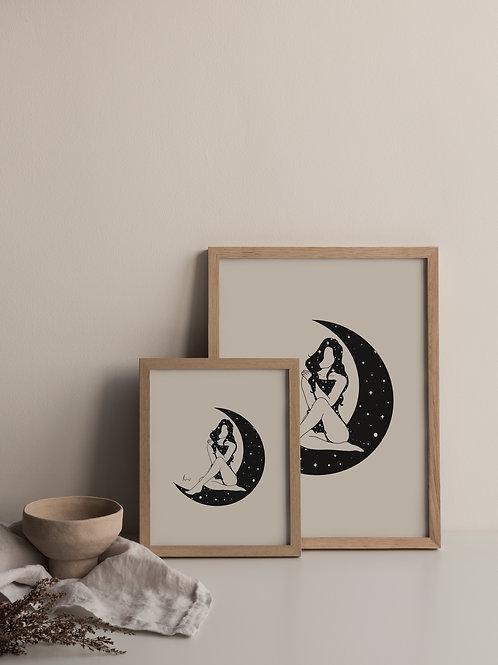 'Moon Child' Print
