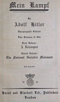 Front Page Mein Kampf