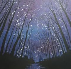 Galaxies, Year 6 students - acrylic paint