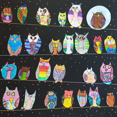 Owl Collage, year 3 students