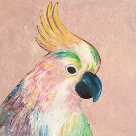 Cockatoo - Acrylic painting, year 5 students
