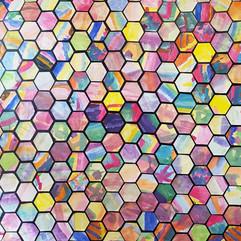 Hexagon collage - kindergarten students