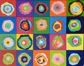 Kandinsky Collage, year 2 students