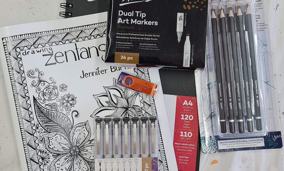 Zentangle Drawing Kit