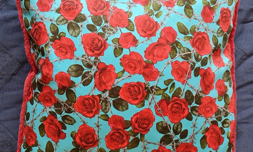 Furry Rose Cushion