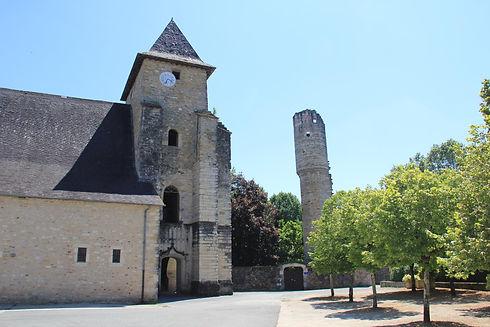 Lucq de Béarn eglise village juillet 19
