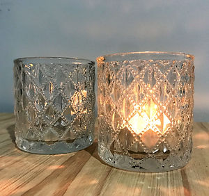 diamond pattern tea light holders.jpg