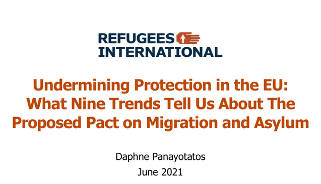 Refugee International Report on Proposed EU Pact on Migration and Asylum