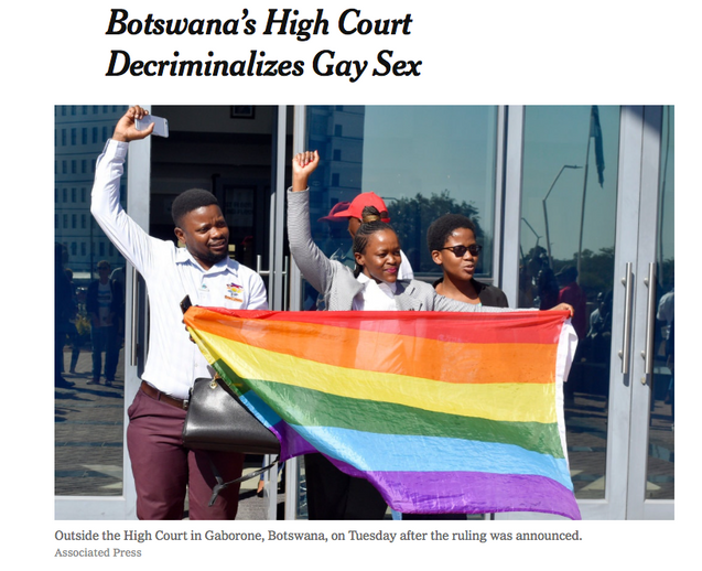 Jubilation as Botswana Decriminalizes Same-Sex Relations