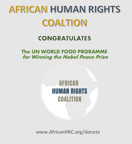 Congratulations to the UN World Food Program
