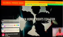 AHRC Presents VIDEO Message on Main Stage Leading Global Pride 2020
