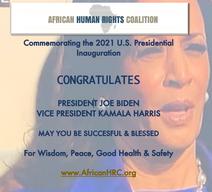 AHRC Congratulates U.S. President Biden and Vice President Harris