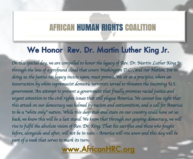 Rev. Dr. Martin Luther King Jr. Day 2021