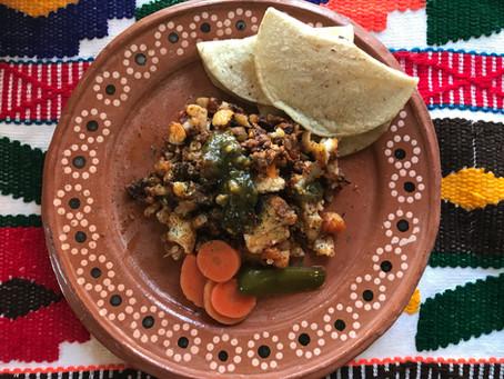 Cauliflower with Soy-rizo Breakfast Scramble