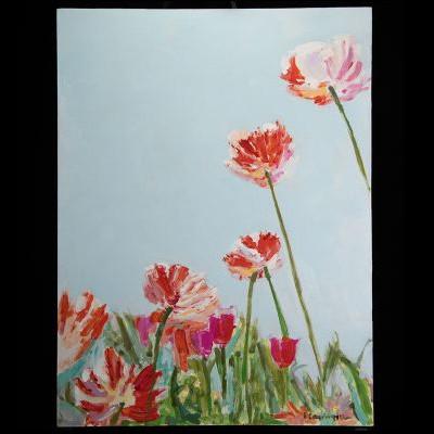 """Johanna Carrington - """"Parrots in a Field"""""""