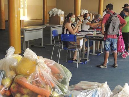 Fornecimento de kits de alimentação será feito de 3 a 7 de maio