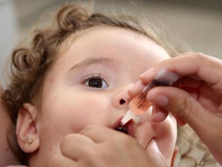 Mutirão contra pólio terá pontos em sistema drive-thru e em unidades de saúde