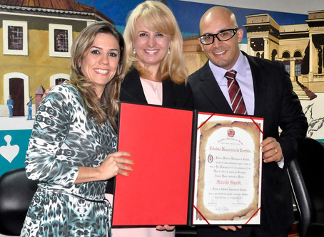 Lembranças - Pastor Marcelo Bigardi recebe título de Cidadão Honorário