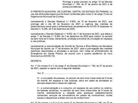 Curitiba prorroga por mais sete dias medidas da bandeira amarela