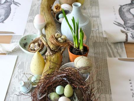 5 inspirações para a decoração da sua mesa do almoço de Páscoa