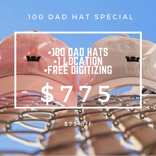 100 Dad Hat Package