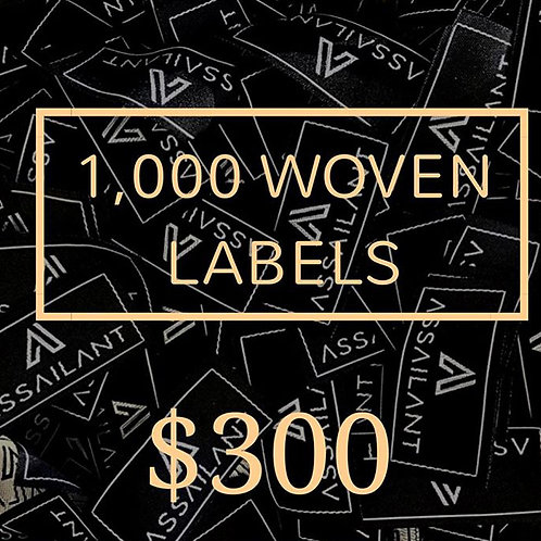 1,000 Woven Labels