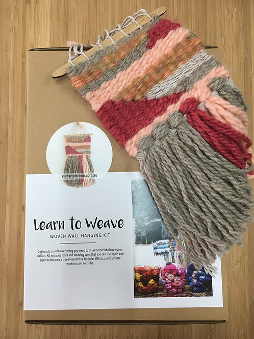 Learn To Weave Kit - Pink Rose and Wine