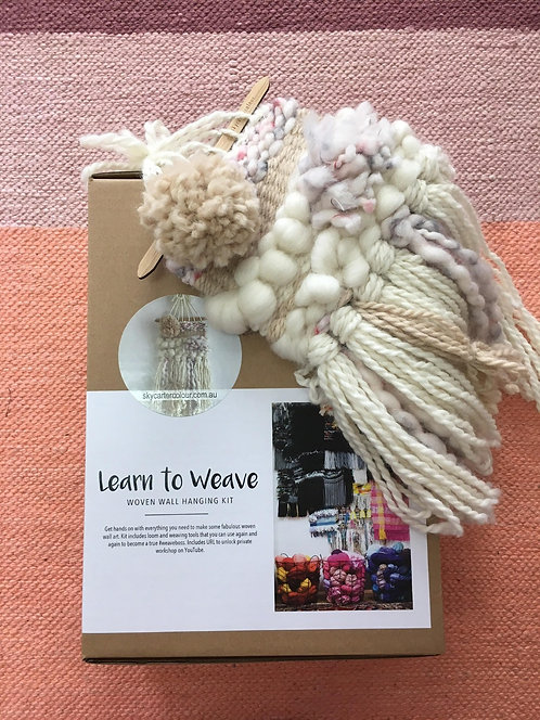 Learn To Weave Kit - Camel & Cream