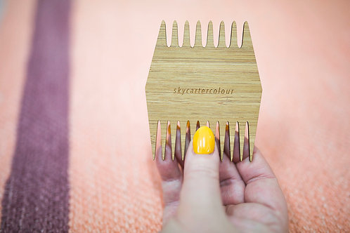 Double Sided Weaving Comb