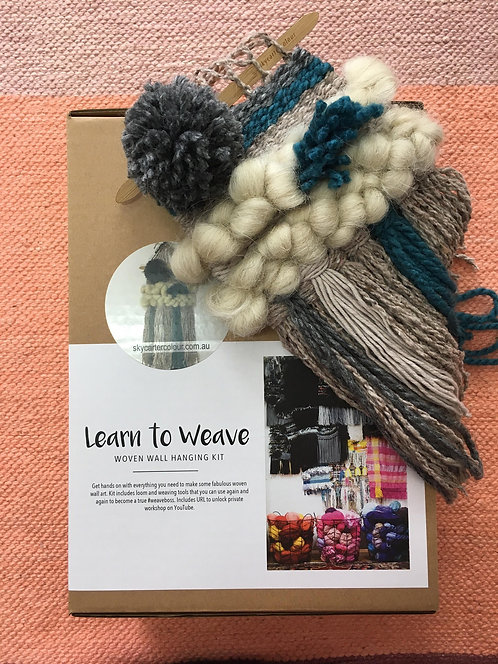 Learn To Weave Kit - Teal & Grey