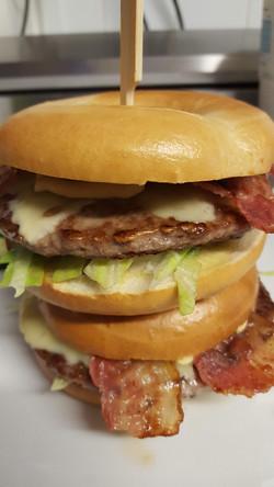 Beef Burger Bagel