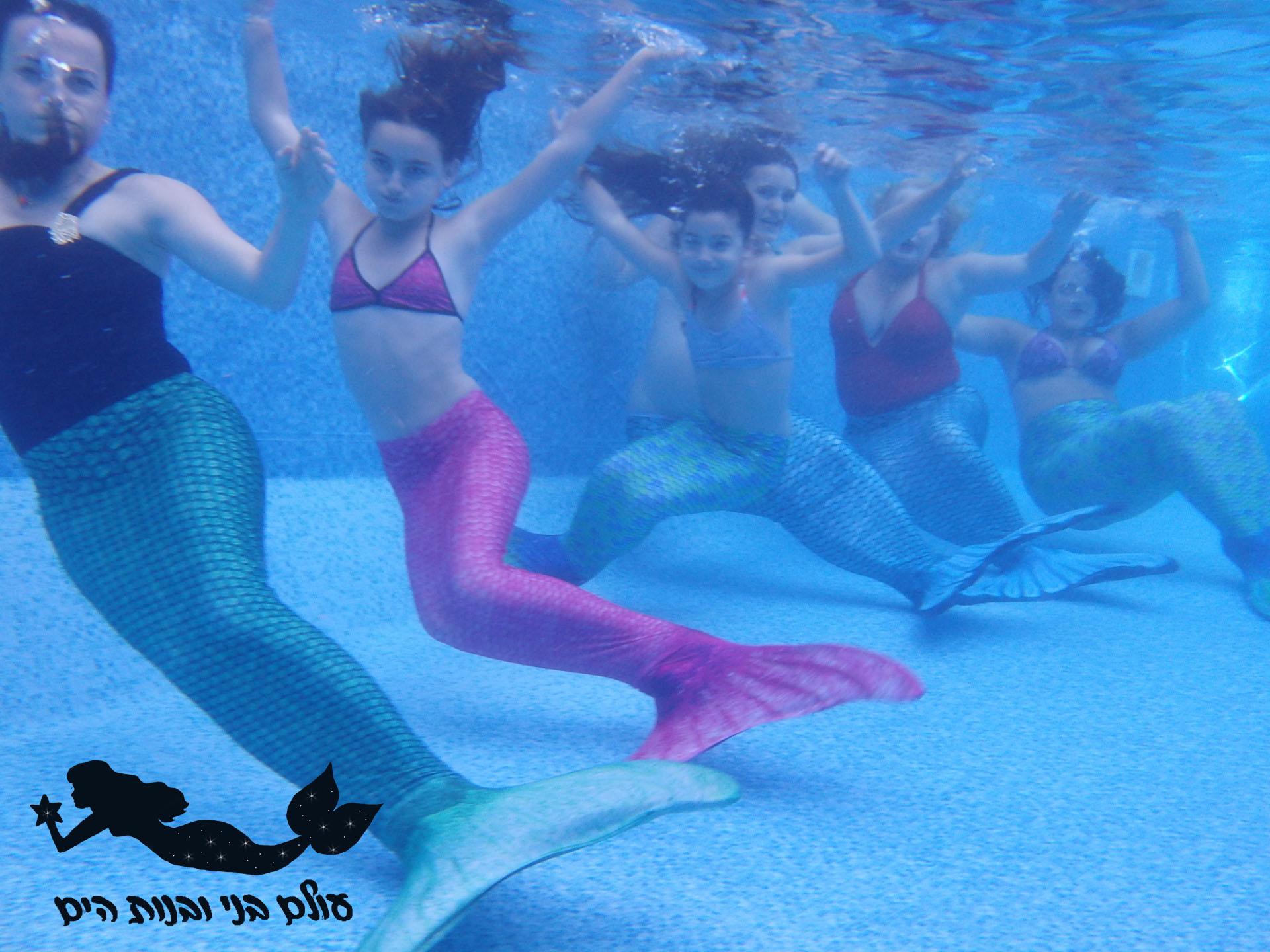 משפחה מתחת למים