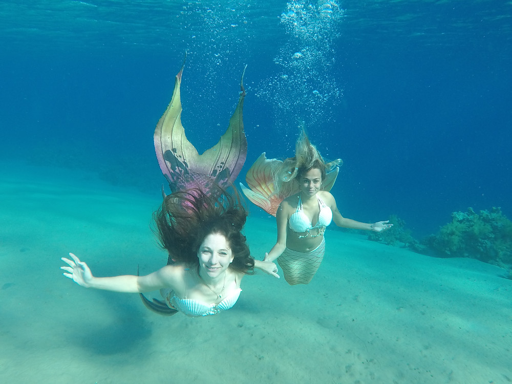 mermaid sara from Egypt and mermaid shir from Israel