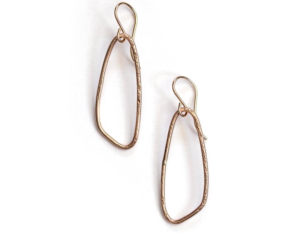 Small Wing Hoop Earrings