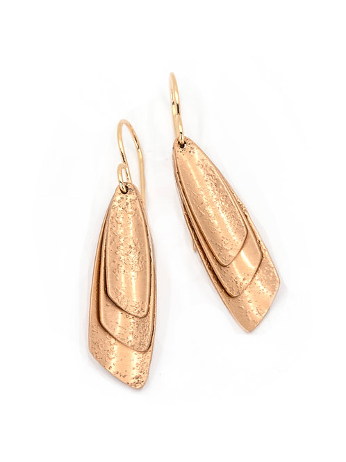 ALPENGLOW SMALL LAYERED BRONZE EARRINGS