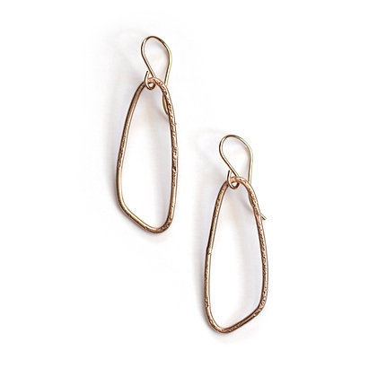 SMALL WING HOOP EARRINGS